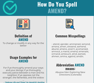 Correct spelling for amend