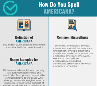 Correct spelling for americana