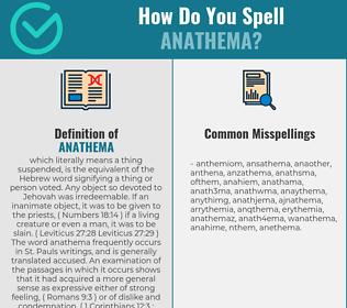Correct spelling for anathema