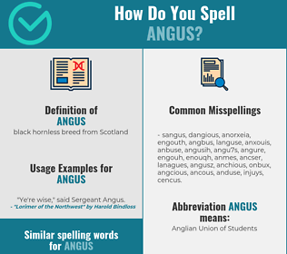 Correct spelling for angus