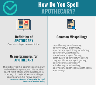 Correct spelling for apothecary