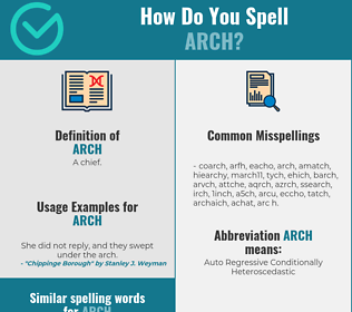 Correct spelling for arch