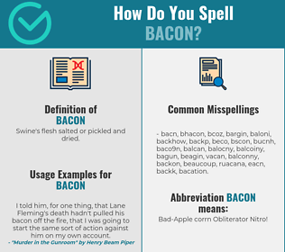 Correct spelling for bacon
