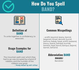 Correct spelling for band