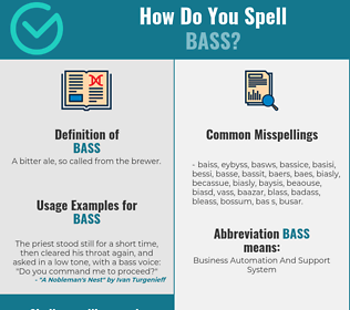 Correct spelling for bass