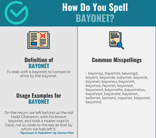 Correct spelling for bayonet