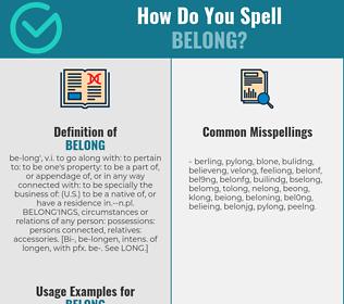 Correct spelling for belong