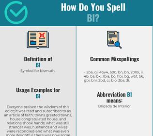 Correct spelling for bi