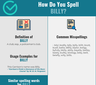 Correct spelling for billy