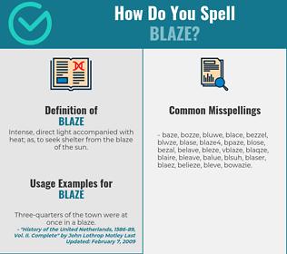 Correct spelling for blaze