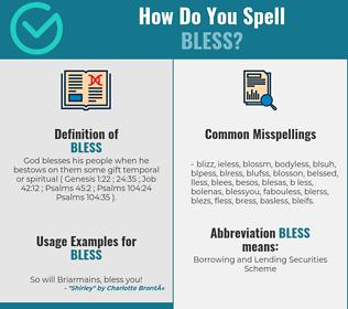 Correct spelling for bless