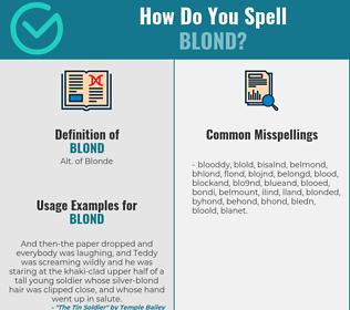 Correct spelling for blond