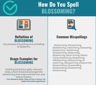 Correct spelling for blossoming
