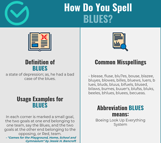 Correct spelling for blues