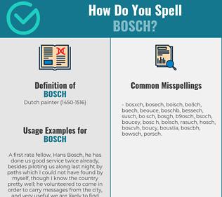 Correct spelling for bosch