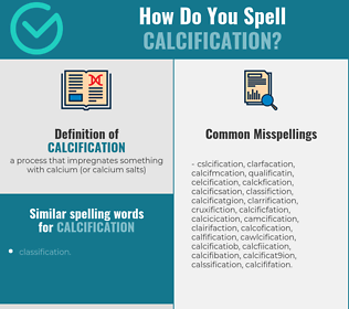 Correct spelling for calcification