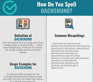 Correct spelling for dachshund