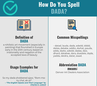 Correct spelling for dada