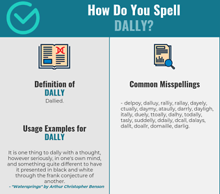 Correct spelling for dally
