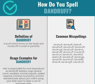 Correct spelling for dandruff