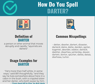 Correct spelling for darter