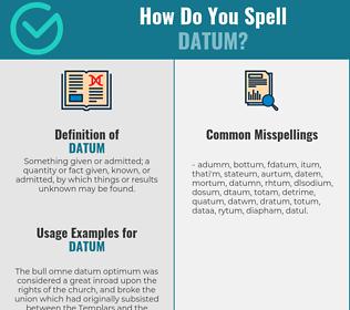 Correct spelling for datum