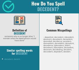 Correct spelling for decedent