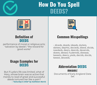 Correct spelling for deeds