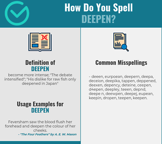 Correct spelling for deepen