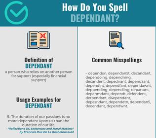 Correct spelling for dependant