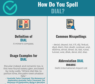 Correct spelling for dial