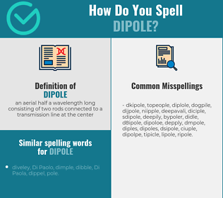 Correct spelling for dipole