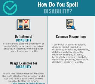 Correct spelling for disability