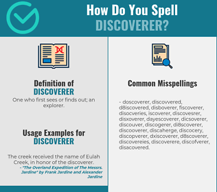 Correct spelling for discoverer