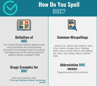 Correct spelling for doc