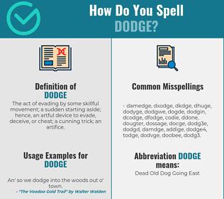 Correct spelling for dodge