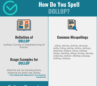 Correct spelling for dollop