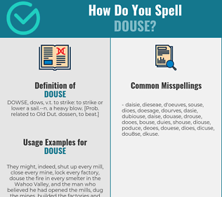 Correct spelling for douse