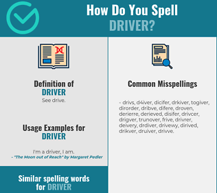 Correct spelling for driver