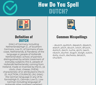 Correct spelling for dutch