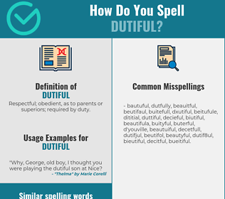 Correct spelling for dutiful