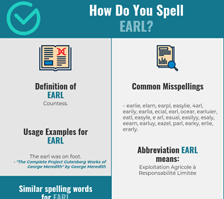 Correct spelling for earl