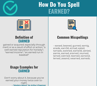 Correct spelling for earned