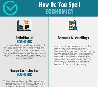 Correct spelling for economic