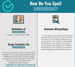 Correct spelling for ehrenberg