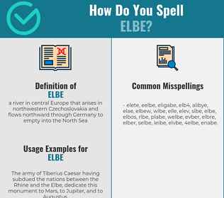 Correct spelling for elbe
