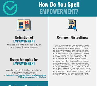 Correct spelling for empowerment