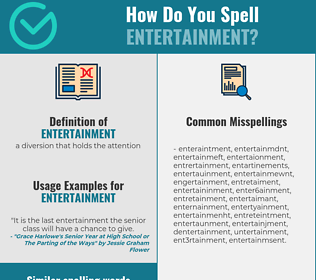 Correct spelling for entertainment