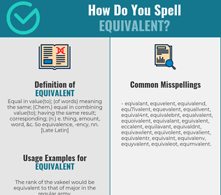 Correct spelling for equivalent