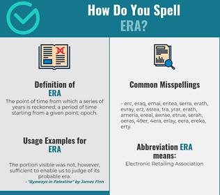 Correct spelling for era